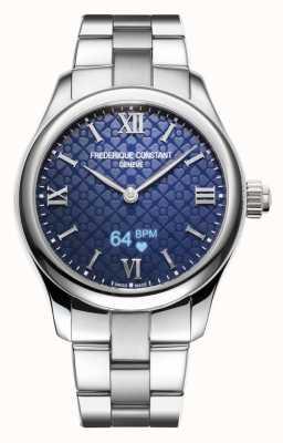 Frederique Constant Femmes | vitalité | smartwatch | cadran bleu | acier inoxydable FC-286N3B6B