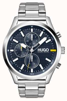 HUGO #chasse homme | cadran bleu | montre en acier inoxydable 1530163