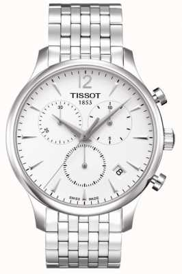 Tissot Tradition | chronographe | cadran blanc | acier inoxydable T0636171103700