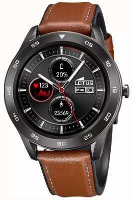 Lotus Smartime | hommes | bracelet en cuir marron + bracelet gratuit L50012/1