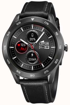 Lotus Smartime | hommes | bracelet en cuir noir + bracelet gratuit L50012/3