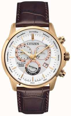 Citizen Montre à quantième perpétuel calibre 8700 | bracelet en cuir marron BL8153-11A