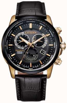 Citizen Montre à quantième perpétuel calibre 8700 | cuir marron foncé BL8156-12E