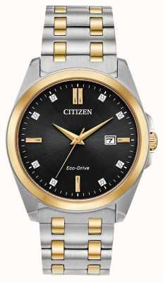 Citizen Montre corso diamants Eco-Drive bicolore pour homme BM7107-50E