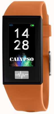 Calypso Unisexe | smartime | bracelet en silicone orange + bracelet gratuit K8500/3