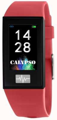 Calypso Unisexe | smartime | bracelet en silicone rouge + bracelet gratuit K8500/4