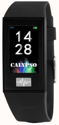 Calypso Unisexe | smartime | bracelet en silicone noir + bracelet gratuit K8500/6