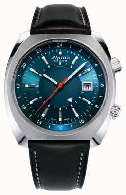 Alpina Startimer pilote du patrimoine auto | bracelet en cuir noir | AL-555N4H6