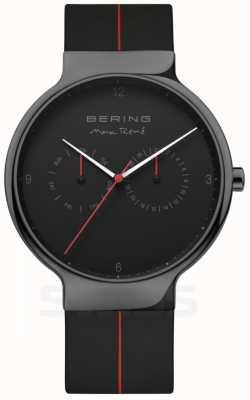 Bering Max rene pour hommes | bracelet en silicone noir | cadran noir 15542-423