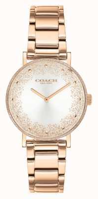 Coach Poiré des femmes | bracelet en acier or rose | cadran argenté 14503639