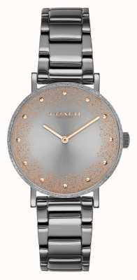 Coach Poiré des femmes | bracelet en acier pvd gris | cadran gris 14503640