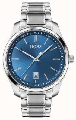 BOSS Circuit sport lux | bracelet en acier inoxydable | cadran bleu 1513731
