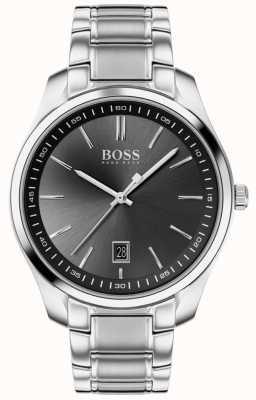 BOSS Circuit sport lux | bracelet en acier inoxydable | cadran noir 1513730