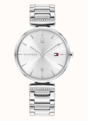 Tommy Hilfiger Aria des femmes | bracelet en argent en acier inoxydable | cadran argenté 1782273