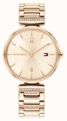 Tommy Hilfiger Aria des femmes | bracelet en acier or rose | cadran en or rose 1782271