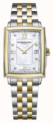 Raymond Weil Toccata pour femmes | bracelet en acier bicolore | cadran serti de diamants 5925-STP-00995
