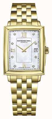 Raymond Weil Toccata pour femmes | bracelet plaqué pvd or | cadran serti de diamants 5925-P-00995