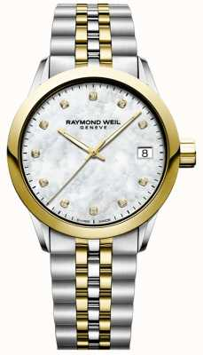 Raymond Weil Femmes | pigiste | diamant | nacre | deux tons 5634-STP-97081