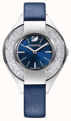 Swarovski Sportive cristalline | bracelet en cuir bleu | cadran bleu 5547629