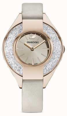 Swarovski Sportive cristalline | bracelet en cuir gris | cadran champagne 5547976