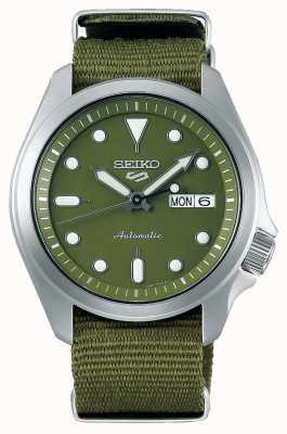 Seiko Bracelet en nylon vert avec 5 cadran vert SRPE65K1