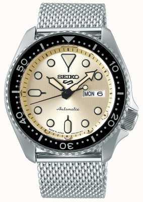 Seiko Automatique | hommes | sport | bracelet en maille | crème SRPE75K1
