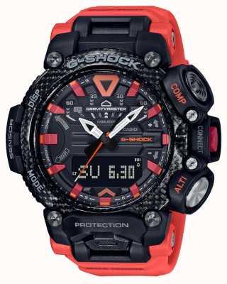 Casio G-shock | gravitymaster | noyau de carbone | bluetooth | Orange GR-B200-1A9ER