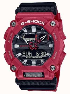 Casio G-shock | robuste | heure du monde | résine rouge GA-900-4AER