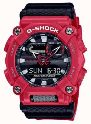Casio G-shock   robuste   heure du monde   résine rouge GA-900-4AER