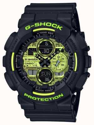 Casio G-shock | camouflage numérique | résine noire GA-140DC-1AER