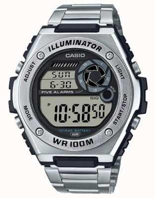 Casio Numérique | illuminateur | acier inoxydable | MWD-100HD-1AVEF