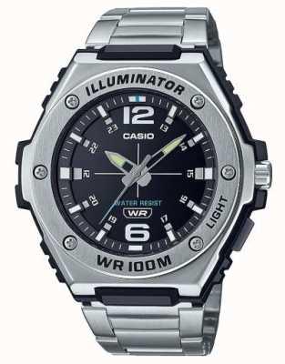 Casio Illuminateur | cadran noir | acier inoxydable | MWA-100HD-1AVEF