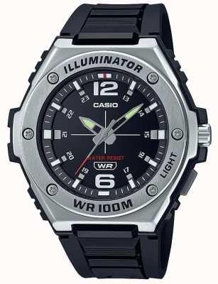 Casio Illuminateur | cadran noir | bracelet en résine noire MWA-100H-1AVEF