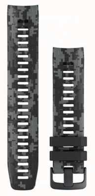 Garmin Bracelet de montre camouflage Instinct graphite 010-12854-27