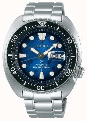 Seiko Les hommes sauvent l'océan | bracelet en acier inoxydable | cadran bleu SRPE39K1