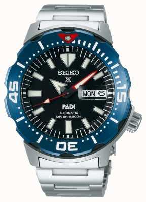 Seiko Prospex pour hommes | padi | bracelet en acier inoxydable | cadran noir SRPE27K1