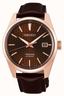 Seiko Presage | rose | automatique | pvd | brun | cuir SPB170J1