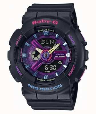 Casio Montre à détail violet Baby-G Decora BA-110TM-1AER