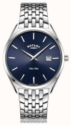 Rotary Montre ultra fine à cadran bleu argenté GB08010/05