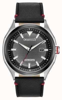 Citizen Bracelet homme eco-drive cadran noir | cuir noir | regarder AW1148-09E