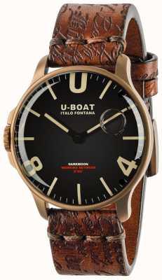 U-Boat Sombrelune 44 mm bronze ip noir | bracelet en cuir 8464-BRONZE
