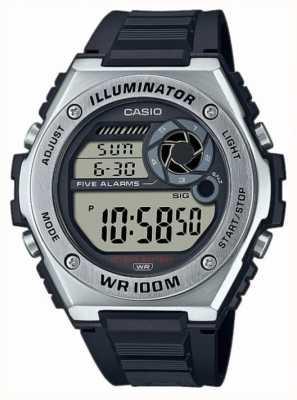 Casio Illuminateur | bracelet en silicone noir MWD-100H-1AVEF