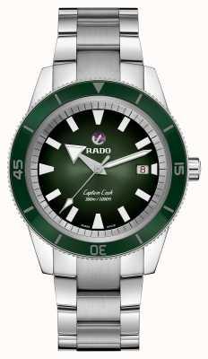 RADO Captain Cook Automatic Mens Bracelet en acier inoxydable Cadran vert R32105313