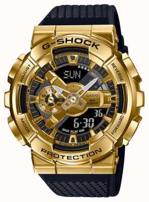 Casio G-shock | bracelet en résine texturée | boîtier métallique or | GM-110G-1A9ER