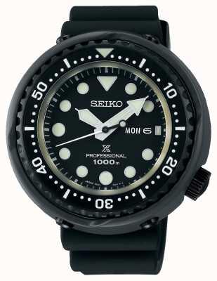 Seiko Hommes plongeurs de thon prospex | bracelet en silicone noir | titane S23631J1