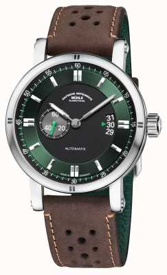 Muhle Glashutte Teutonia sport ii   bracelet vintage marron M1-29-74-LB-B