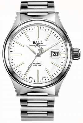 Ball Watch Company Entreprise de pompier | bracelet en acier inoxydable | cadran blanc NM2188C-S20J-WH
