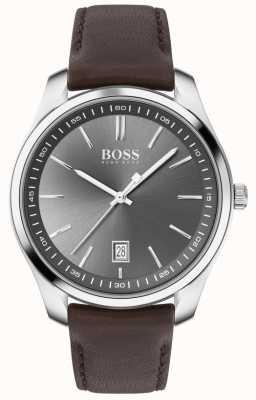 BOSS | hommes | coffret cadeau | circuit | bracelet en cuir marron 1570083