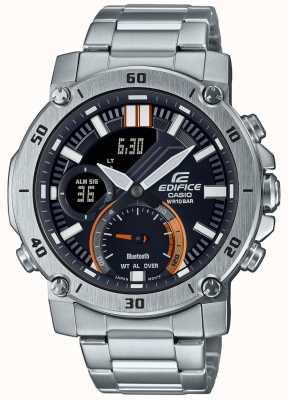 Casio Edifice | bracelet en acier inoxydable | bluetooth | cadran noir ECB-20D-1AEF