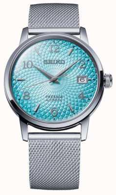 Seiko Présage en édition limitée | bracelet en maille d'acier | cadran bleu SRPE49J1